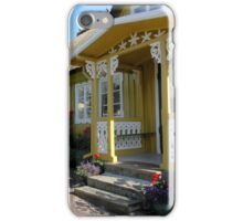 Mustard and White Porch iPhone Case/Skin