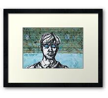 Dive In - Self Portrait with Goggles Framed Print