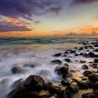 Burleigh Rocks at Dawn by Ken Wright