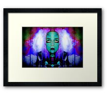 Wanting RELIEF : drifting into the clouds Framed Print