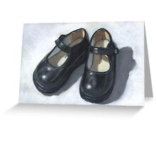 Rebecca's Little Black Shoes Greeting Card