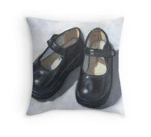 Rebecca's Little Black Shoes Throw Pillow