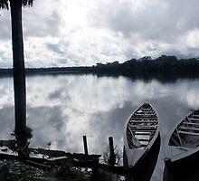 Canoes on Lake Sandoval by tslezak