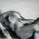 Male Model Reclining. by Bill Proctor