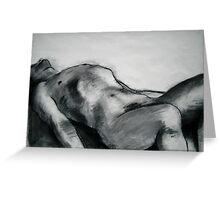 Male Model Reclining. Greeting Card