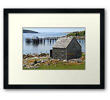 Deep Cove Island Shanty Framed Print