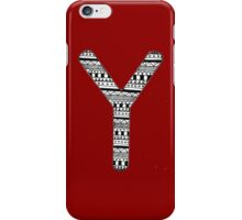 'Y' Patterned Monogram iPhone Case/Skin