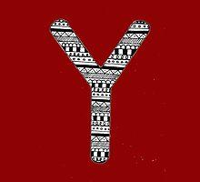 'Y' Patterned Monogram by tadvani