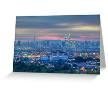 The City In HDR Greeting Card