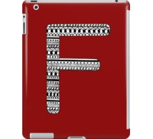 'F' Patterned Monogram iPad Case/Skin
