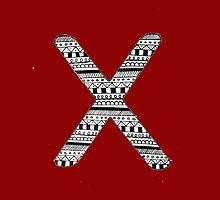 'X' Patterned Monogram by tadvani