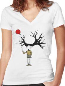 Branch Girl Women's Fitted V-Neck T-Shirt