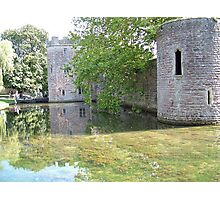 Castle Towers and Moat Photographic Print
