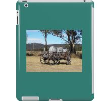 Old Wooden Cart with Barrels iPad Case/Skin