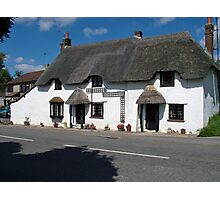 English Thatched Cottage UK Photographic Print