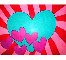 Blue Heart Blast Photographic Print