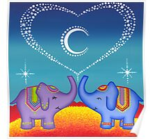 Elephant soul mates Poster