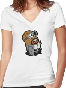 Minvengers - Min Fury Women's Fitted V-Neck T-Shirt