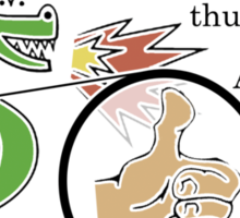Trogdor's Thumbs-Up Of Approval Sticker