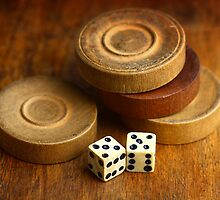 Backgammon Pieces by Dragos Dumitrascu