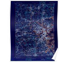 Massachusetts  USGS Historical Topo Map MA Boston 352501 1893 62500 Inverted Poster