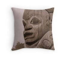 Pacific NW Totem Throw Pillow