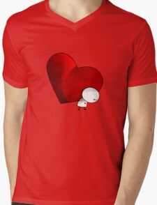Heavy Love - T-Shirt Mens V-Neck T-Shirt