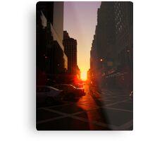 Sunset on 7th Avenue Metal Print