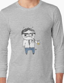 Nerdy Cat Long Sleeve T-Shirt