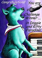 Challenge entry 'Doggie and Kitty Paradise' by Margaret Sanderson