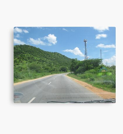 While Driving Canvas Print