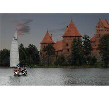Castle of TRAKAI, sail Photographic Print