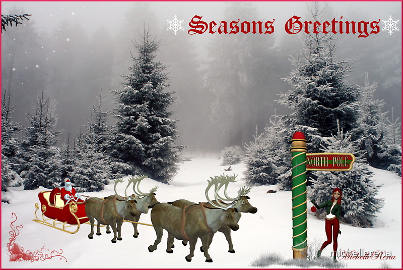"""""""Seasons Greetings"""" by michellerena"""
