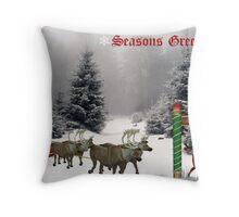 """Seasons Greetings"" Throw Pillow"