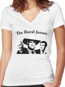 The Rural Jurors Women's Fitted V-Neck T-Shirt
