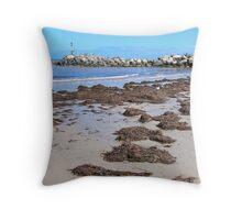 Glenelg Beach  Throw Pillow