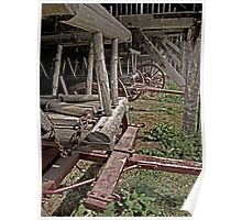 Hay Wagons in a Barn faded Poster