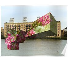 xz london waterside floral Poster