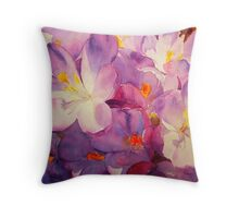 Crocus Chorus Throw Pillow