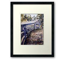 Old Shearing Shed Framed Print