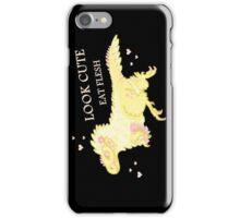 Fluffy Dinosaurs - Look Cute, Eat Flesh iPhone Case/Skin