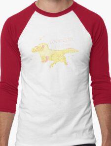 Fluffy Dinosaurs - Look Cute, Eat Flesh Men's Baseball ¾ T-Shirt