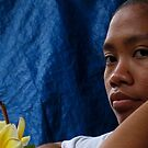 a lovely young woman of Bali by geof