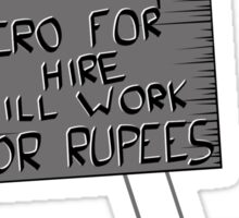Hero For Hire Sticker