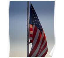 Sunlit Stars and Stripes Poster