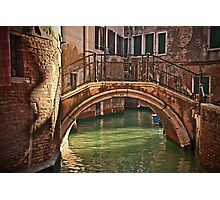 Venice - bridge Photographic Print