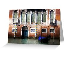 Venice, Canal Grande view with gondola Greeting Card
