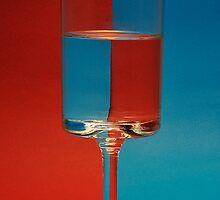 a red and blue glass by Iamclive