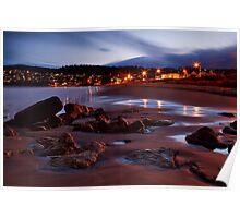 Blackmans Bay Beach at Night Poster