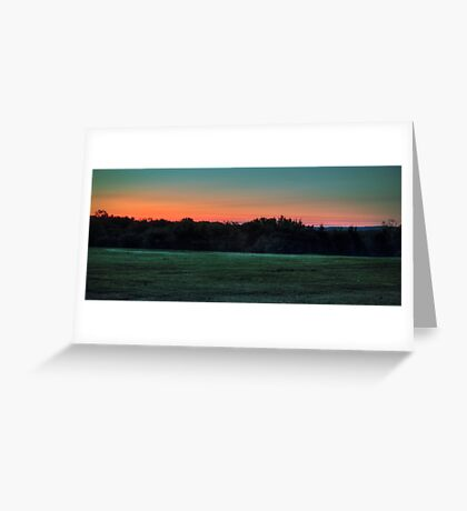 Lights Off In The Distance Greeting Card
